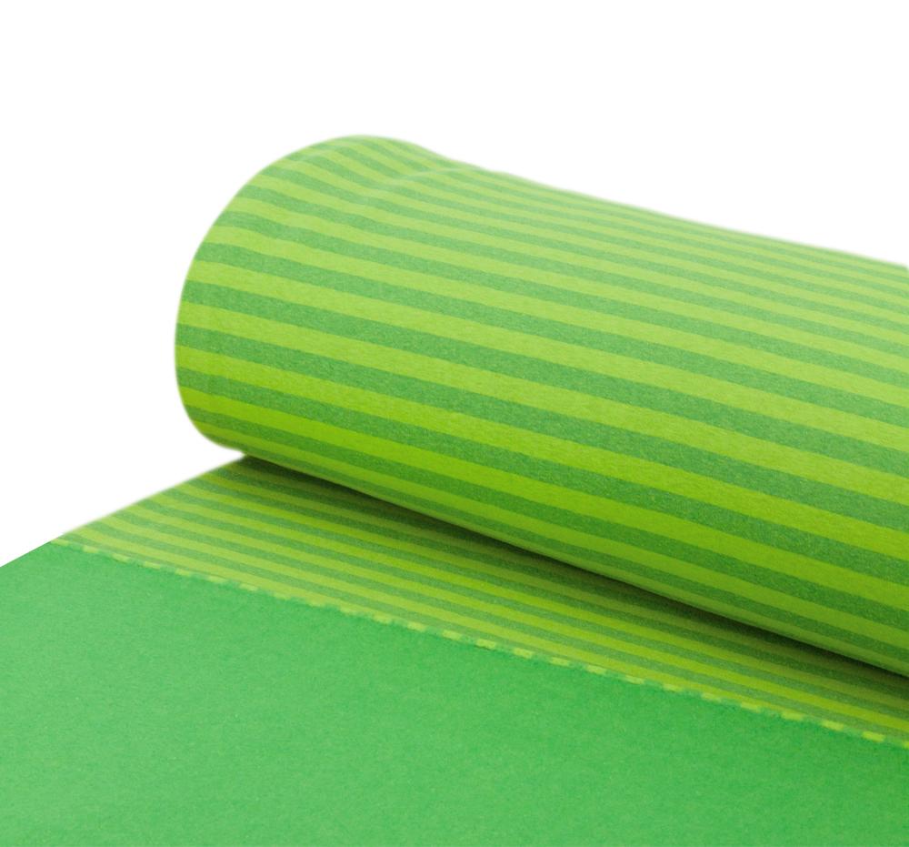 Baumwoll - Sweat Stoff Streifen Gestreift Grün Petrol